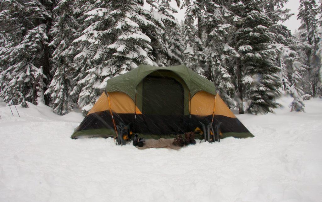 tent, snow, ice