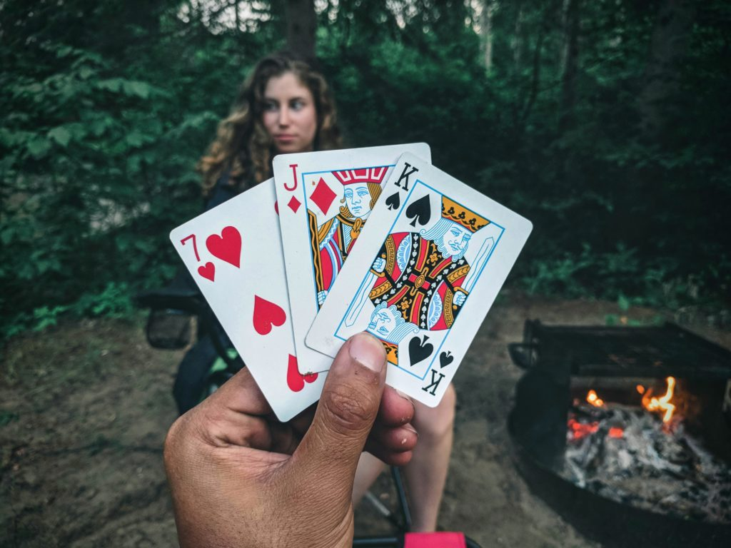 Is it really camping if you don't bring a deck of cards?
